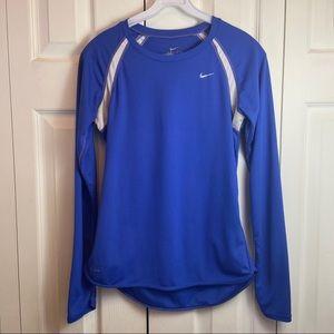 Nike Mens Blue Dri Fit Athletic Shirt sz S